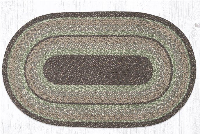 """Moss Bark Oval Braided Rug 27""""x45"""" Thumbnail"""
