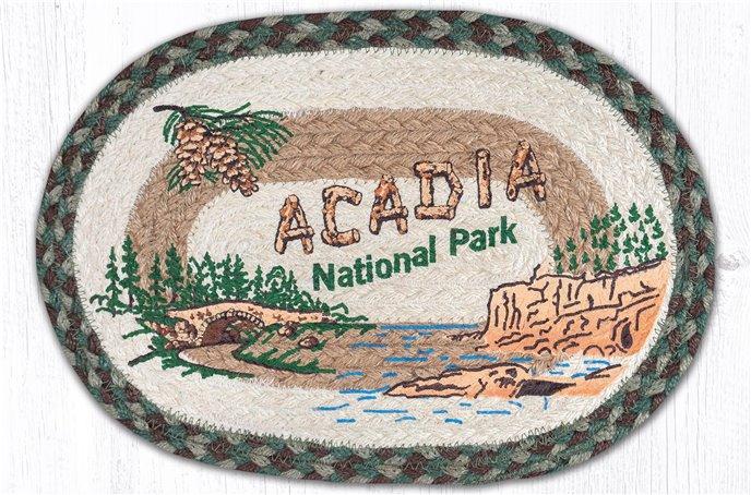 "Acadia Bridge Printed Oval Braided Swatch 10""x15"" Thumbnail"