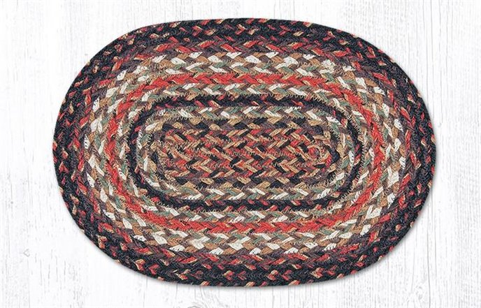 """Terracotta Oval Braided Swatch 10""""x15"""" Thumbnail"""