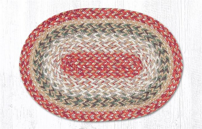 """Sage Oval Braided Swatch 10""""x15"""" Thumbnail"""
