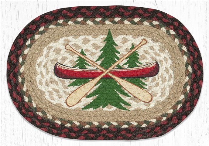 "Adirondack Canoe Printed Oval Braided Swatch 10""x15"" Thumbnail"