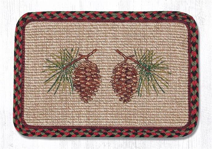 "Pinecone Wicker Weave Braided Trivet 9""x9"" Thumbnail"