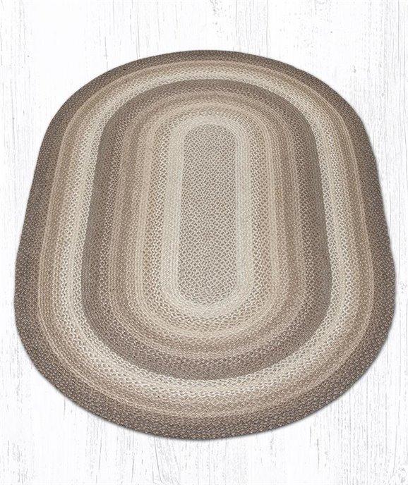 Natural Oval Braided Rug 5'x8' Thumbnail