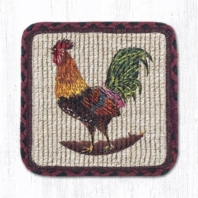 """Morning Rooster Wicker Weave Braided Swatch 10""""x15"""" Thumbnail"""