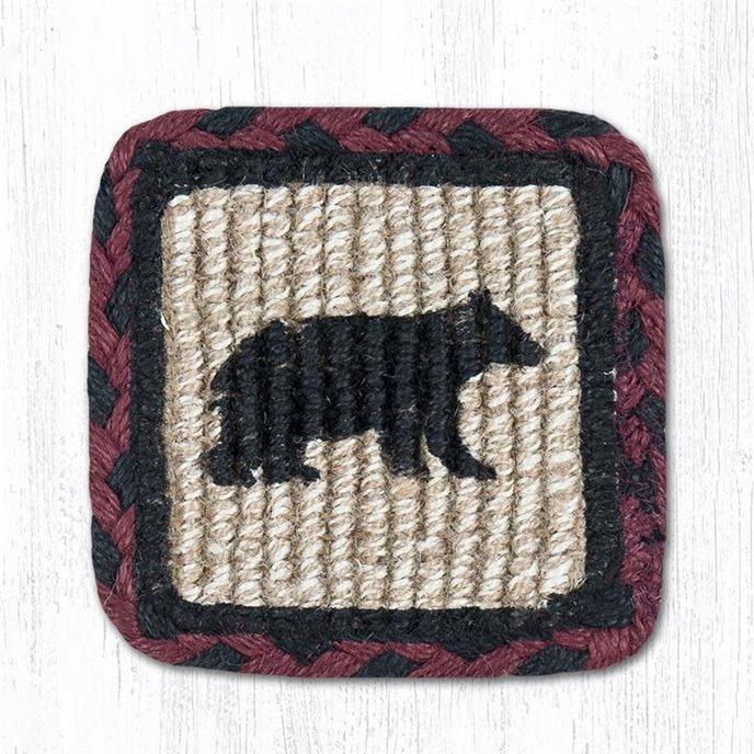 """Cabin Bear Wicker Weave Braided Swatch 10""""x15"""" Thumbnail"""