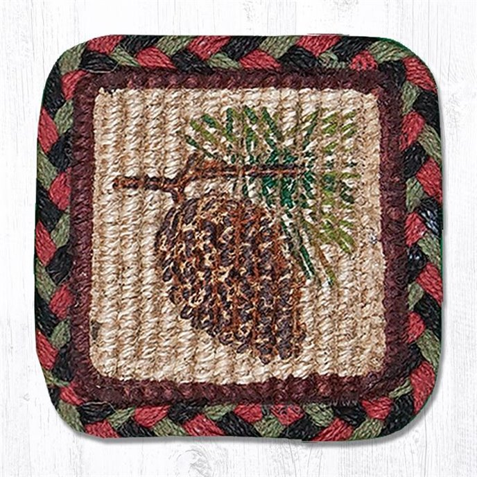 """Pinecone Wicker Weave Braided Swatch 10""""x15"""" Thumbnail"""
