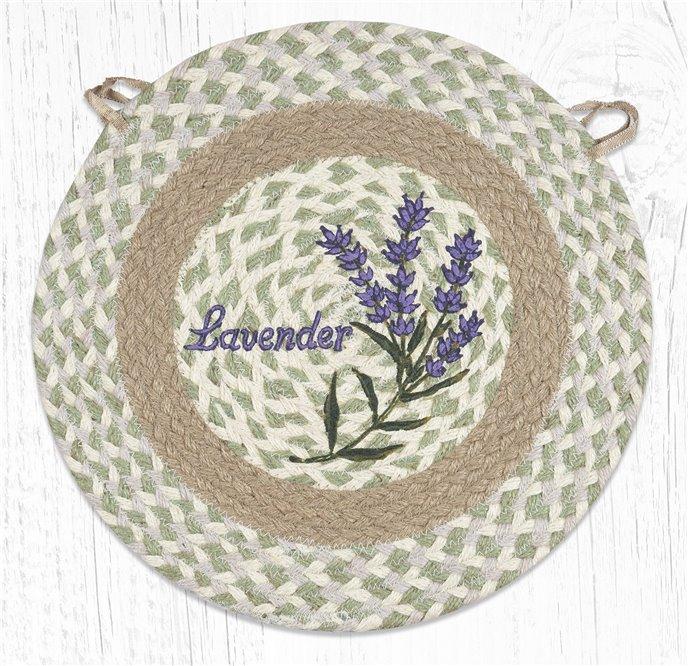 """Lavender Round Braided Chair Pad 15.5""""x15.5"""" Thumbnail"""