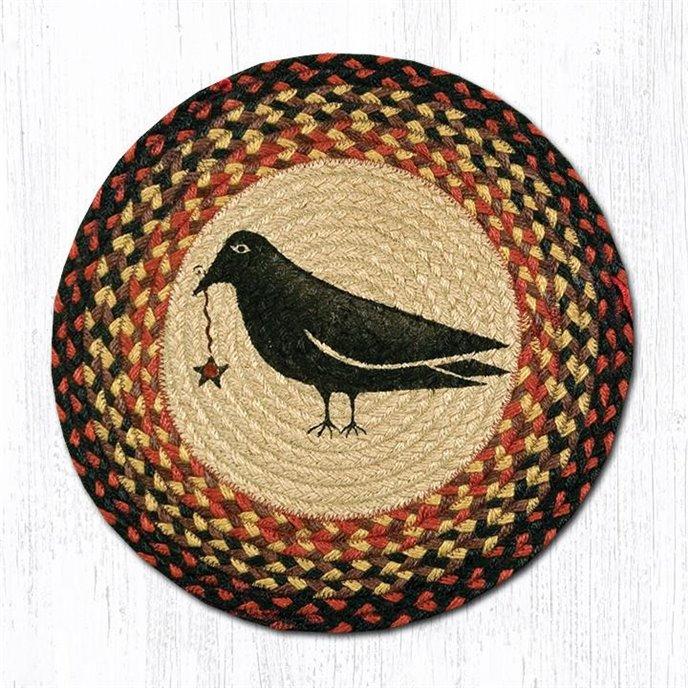 """Crow & Star Round Braided Chair Pad 15.5""""x15.5"""" Thumbnail"""