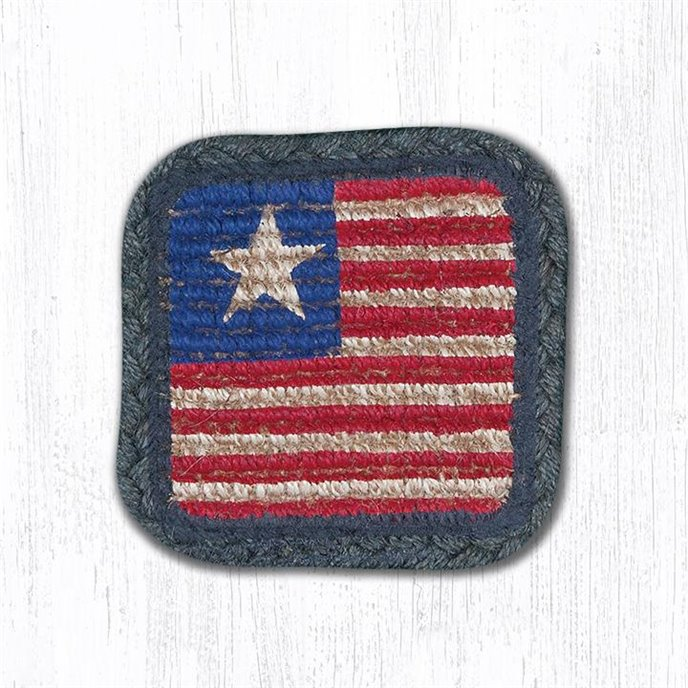 "Original Flag Wicker Weave Braided Swatch 10""x15"" Thumbnail"