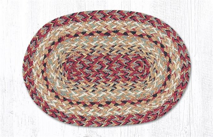 "Burgundy Oval Braided Swatch 10""x15"" Thumbnail"