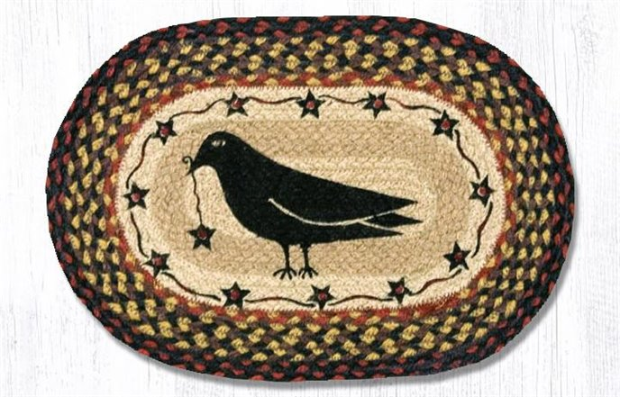 """Crow & Star Printed Oval Braided Swatch 10""""x15"""" Thumbnail"""