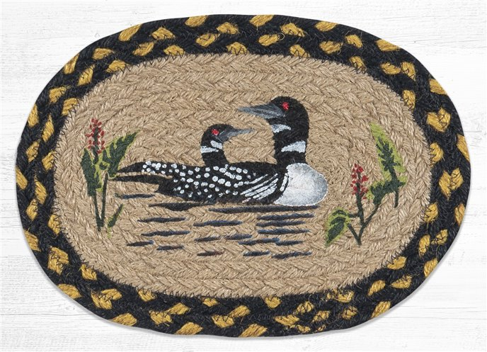 """Loon Printed Oval Braided Swatch 7.5""""x11"""" Thumbnail"""