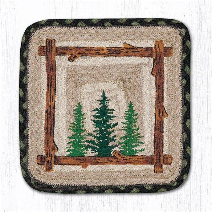 "Tall Timbers Rectangular Printed Braided Swatch 10""x15"" Thumbnail"