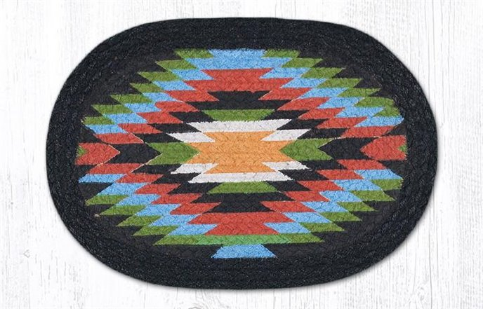 """Native 1 Printed Oval Braided Swatch 10""""x15"""" Thumbnail"""