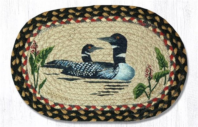 """Loon Printed Oval Braided Swatch 10""""x15"""" Thumbnail"""