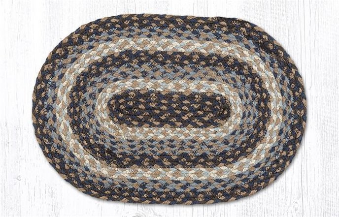 """Blue Oval Braided Swatch 10""""x15"""" Thumbnail"""