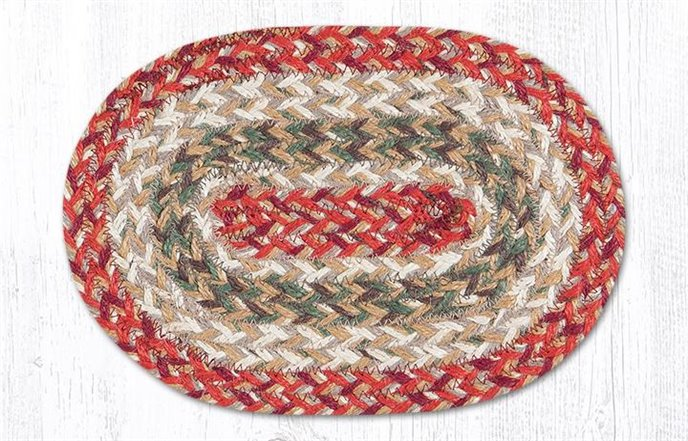 """Olive Oval Braided Swatch 7.5""""x11"""" Thumbnail"""