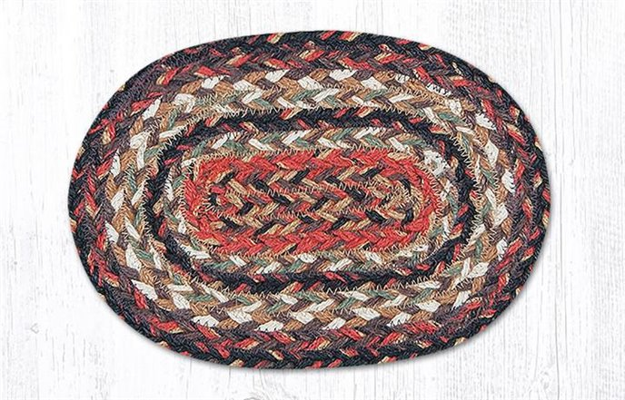 """Terracotta Oval Braided Swatch 7.5""""x11"""" Thumbnail"""