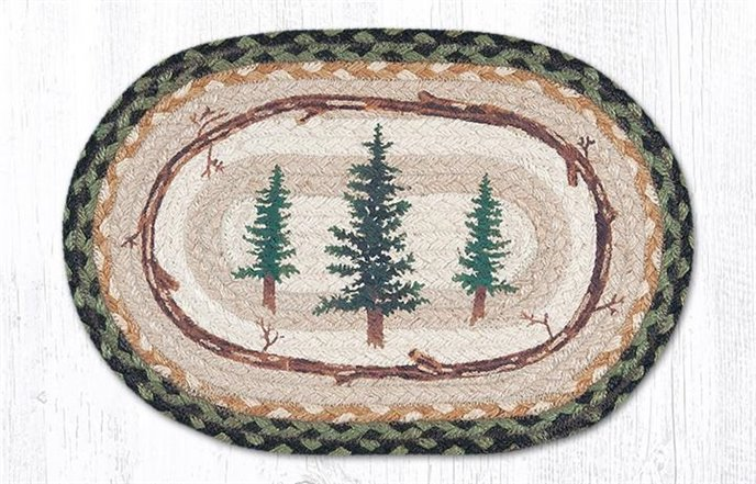 """Tall Timbers Printed Oval Braided Swatch 10""""x15"""" Thumbnail"""