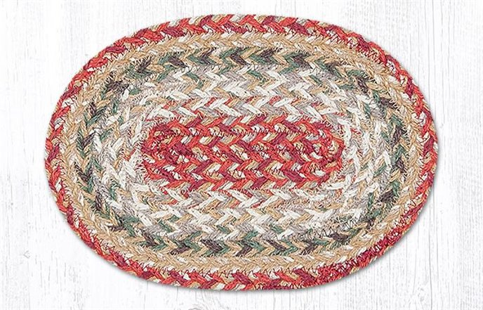 """Sage Oval Braided Swatch 7.5""""x11"""" Thumbnail"""