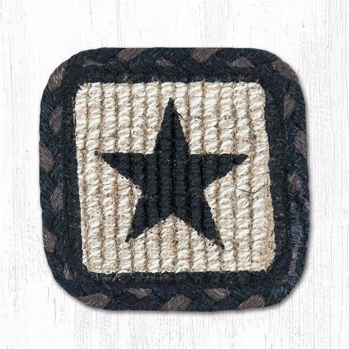 "Black Star Wicker Weave Braided Swatch 10""x15"" Thumbnail"