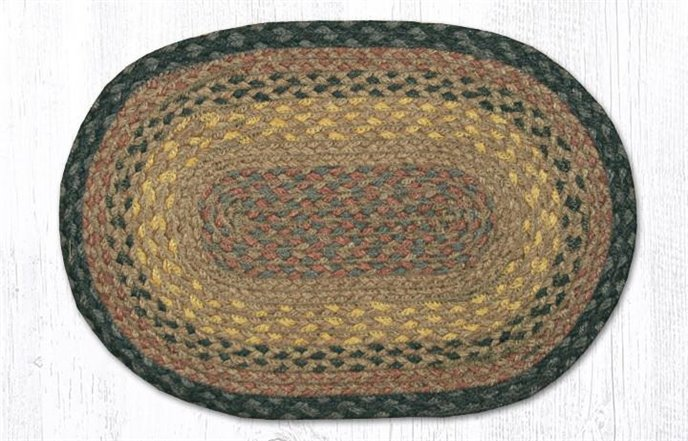 """Brown/Black/Charcoal Oval Braided Swatch 10""""x15"""" Thumbnail"""