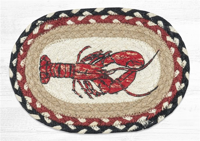 """Fresh Lobster Printed Oval Braided Swatch 7.5""""x11"""" Thumbnail"""