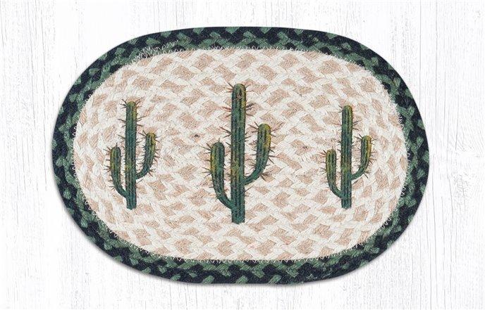 "Saguaro Printed Oval Braided Swatch 10""x15"" Thumbnail"