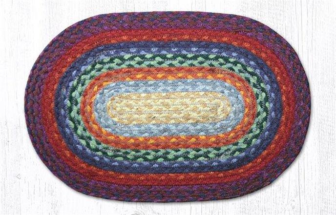 "Rainbow 1 Oval Braided Swatch 10""x15"" Thumbnail"