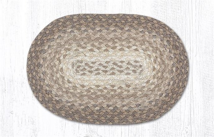 """Natural Oval Braided Swatch 10""""x15"""" Thumbnail"""