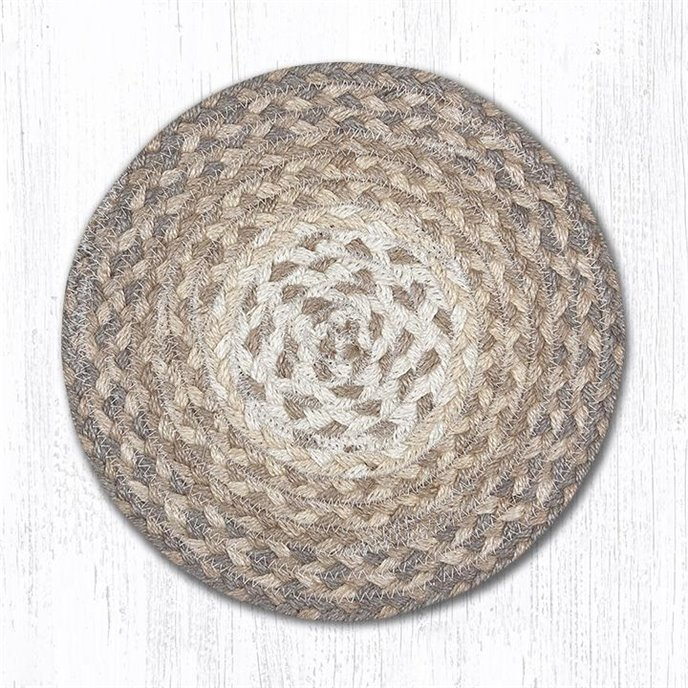 """Natural Round Braided Swatch 10""""x10"""" Thumbnail"""