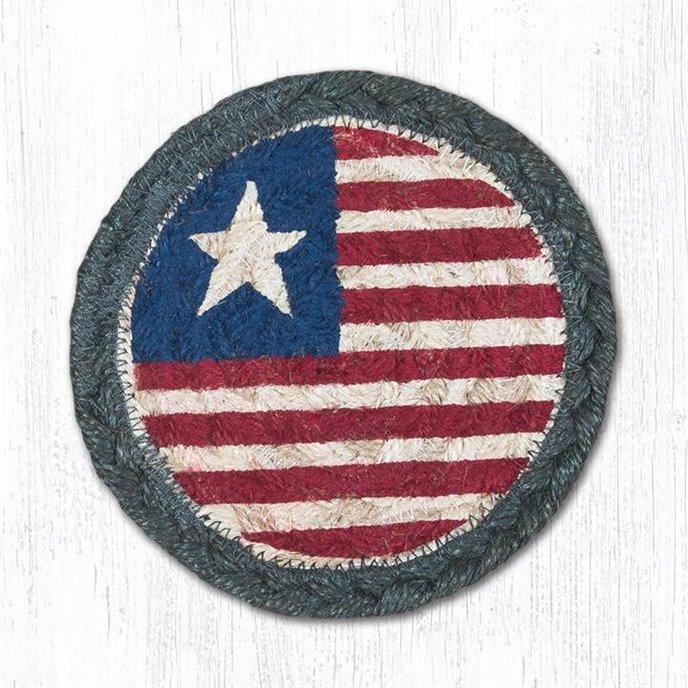 "Original Flag Printed Braided Coaster 5""x5"" Set of 4 Thumbnail"