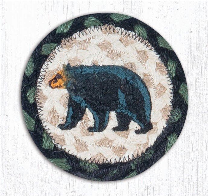 """Mama Bear Printed Braided Coaster 5""""x5"""" Set of 4 Thumbnail"""