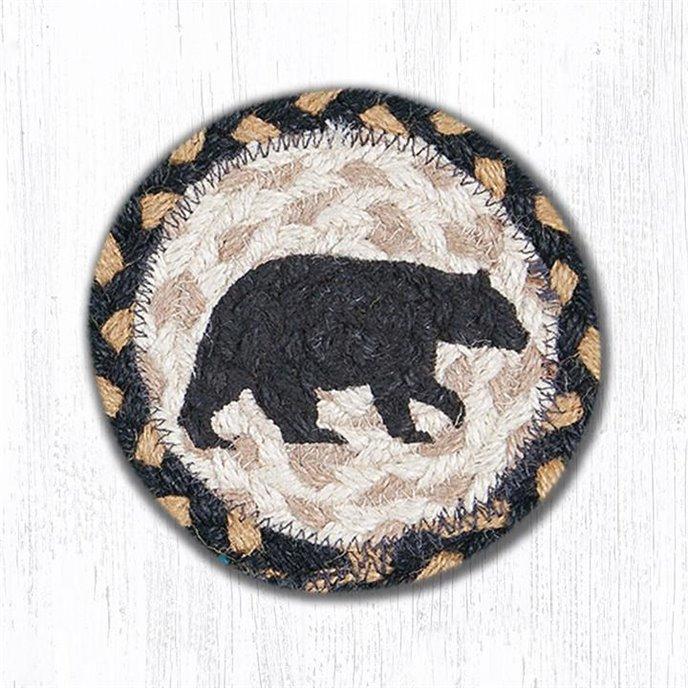 "American Bear Printed Braided Coaster 5""x5"" Set of 4 Thumbnail"