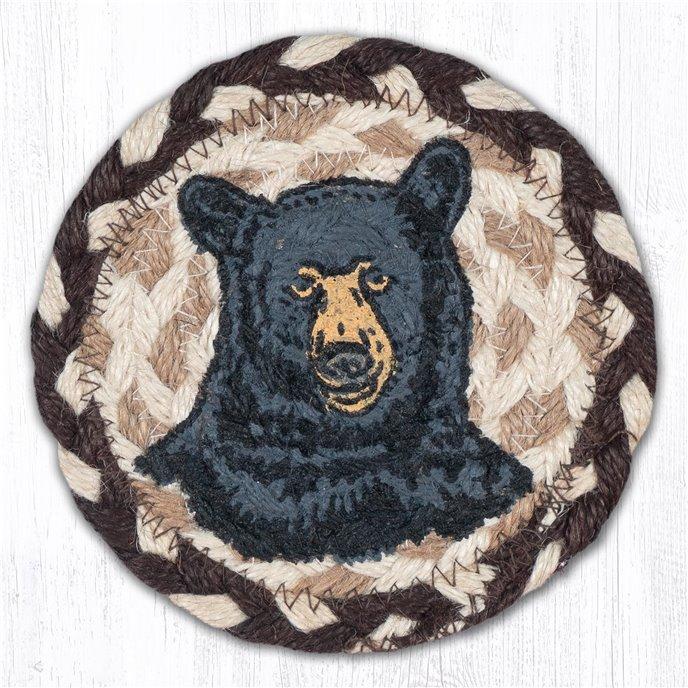 """Bear Printed Braided Coaster 5""""x5"""" Set of 4 Thumbnail"""
