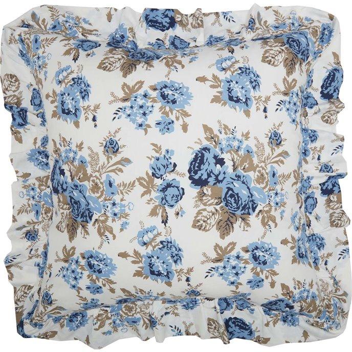 Annie Blue Floral Fabric Euro Sham 26x26 Thumbnail