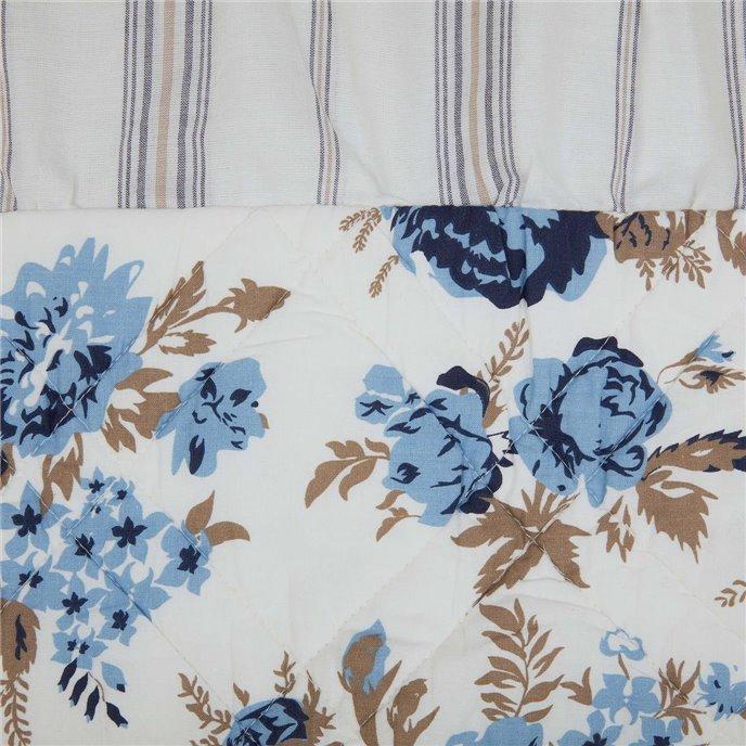 Annie Blue Floral Ruffled Standard Sham 21x27 Thumbnail