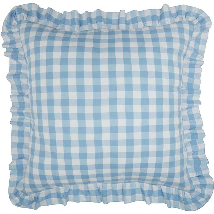 Annie Buffalo Blue Check Fabric Euro Sham 26x26 Thumbnail