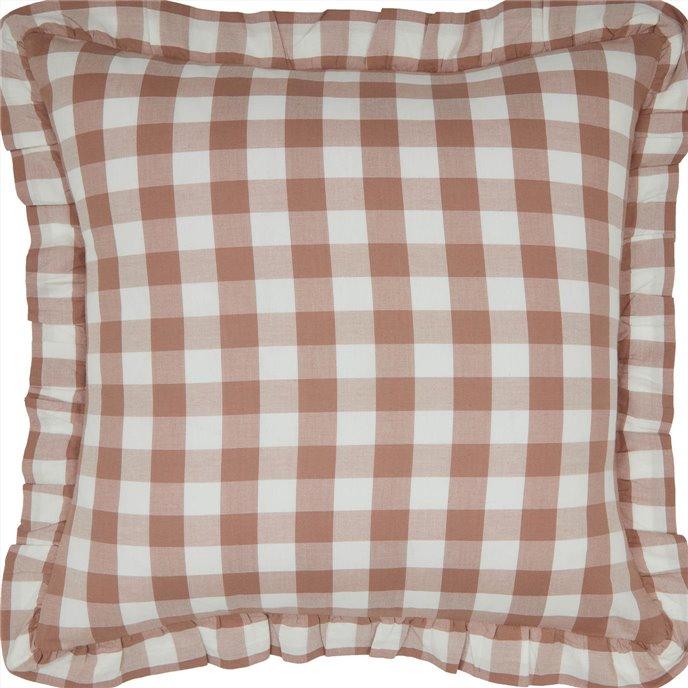 Annie Buffalo Portabella Check Ruffled Fabric Pillow 18x18 Thumbnail