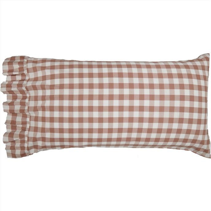Annie Buffalo Portabella Check Standard Pillow Case Set of 2 21x30+4 Thumbnail