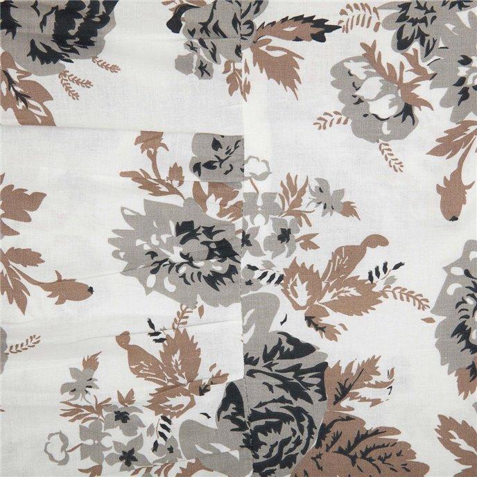 Annie Portabella Floral Ruffled King Pillow Case Set of 2 21x36+8 Thumbnail