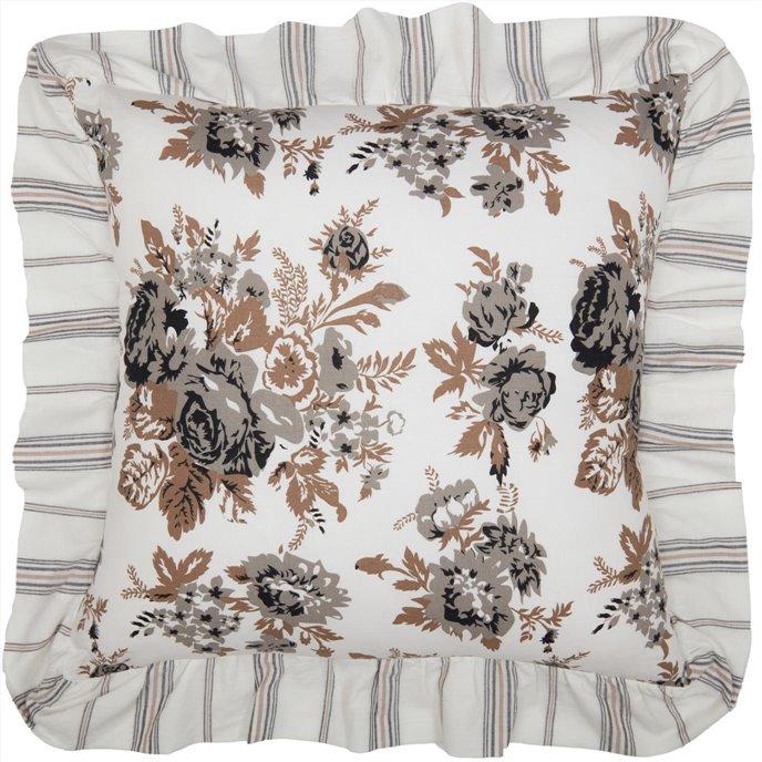 Annie Portabella Floral Ruffled Pillow 18x18 Thumbnail