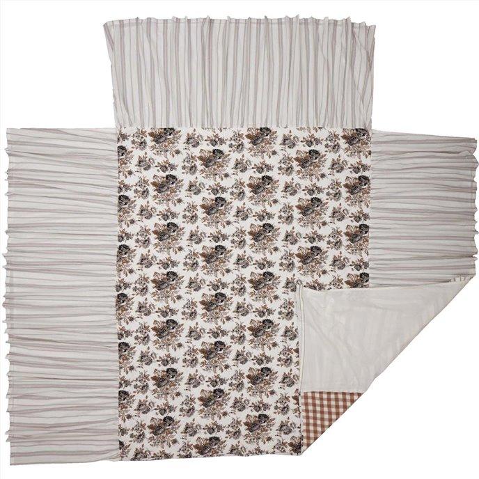 Annie Portabella Floral Ruffled Queen Coverlet 80x60+27 Thumbnail