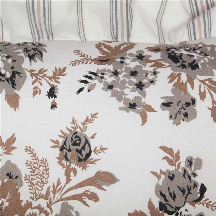 Annie Portabella Floral Ruffled Standard Sham 21x27 Thumbnail