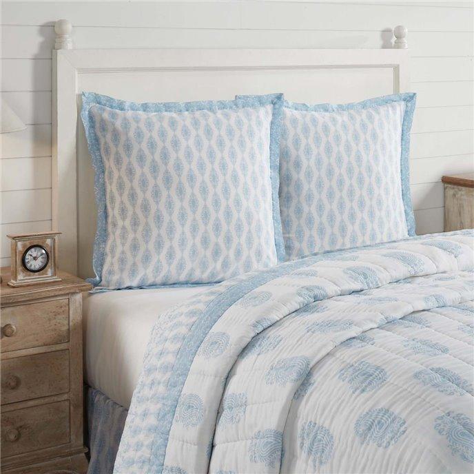 Avani Blue Fabric Euro Sham 26x26 Thumbnail