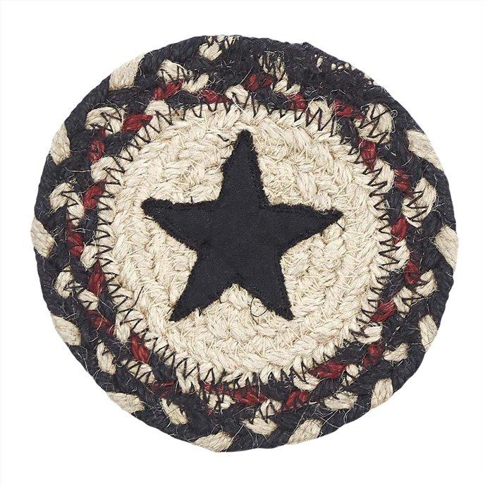 Colonial Star Jute Coaster Set of 6 Thumbnail