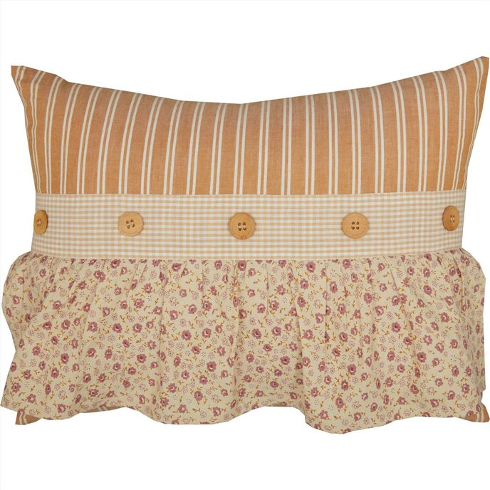 Camilia Ruffled Pillow 14x18 Thumbnail
