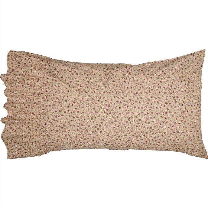 Camilia Ruffled Standard Pillow Case Set of 2 21x26+8 Thumbnail