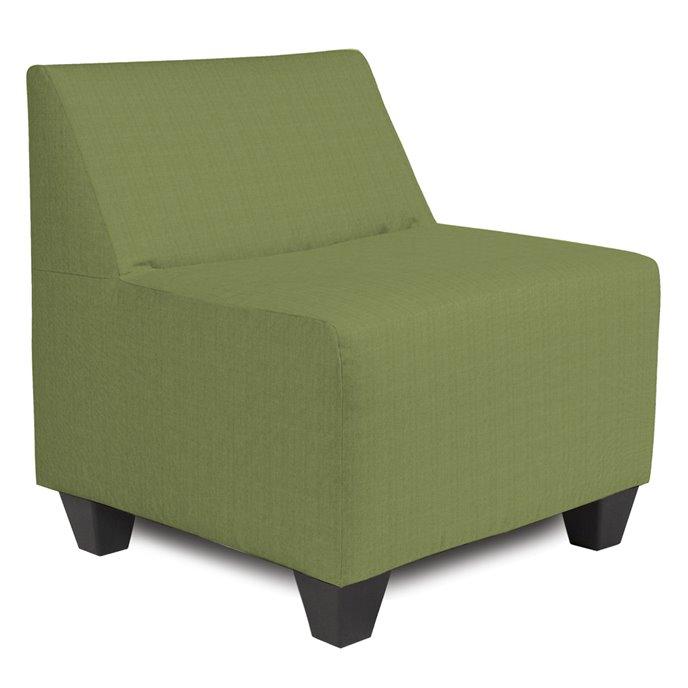 Howard Elliott Pod Chair Outdoor Sunbrella Seascape Moss Complete Chair Thumbnail