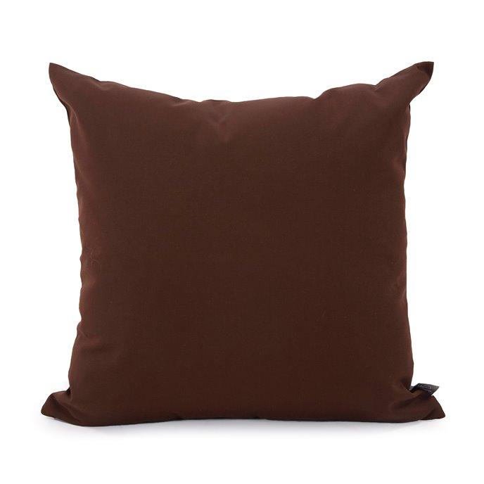 "Howard Elliott 20"" x 20"" Pillow Outdoor Sunbrella Seascape Chocolate Thumbnail"